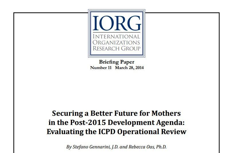 Securing A Better Future For Mothers In The Post 2015 Development